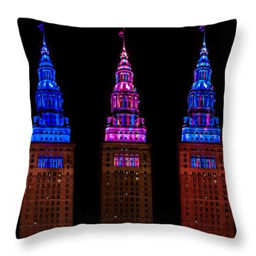 Colors Of The Terminal Tower Throw Pillow