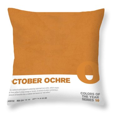 Colors Of The Year Series 10 Graphic Design October Ochre Throw Pillow