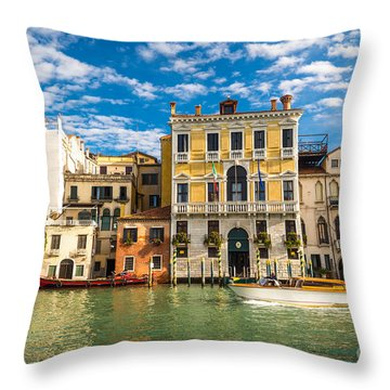 Colors Of Venice - Italy Throw Pillow