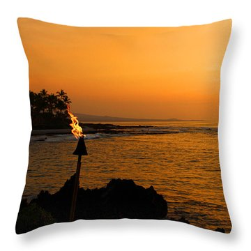 Throw Pillow featuring the photograph Colors Of Waikoloa Hawaii by Kerri Ligatich
