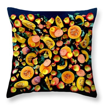 Colors Of Winter Squash Throw Pillow