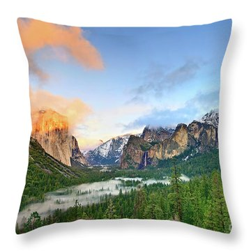 Colors Of Yosemite Throw Pillow