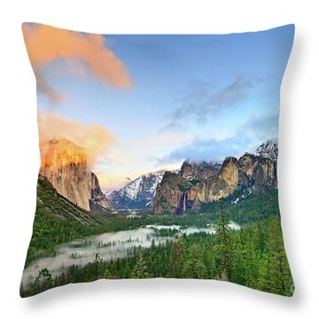 Colors Of Yosemite Throw Pillow