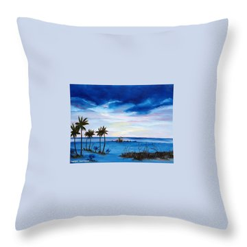 Colors On The Gulf Throw Pillow