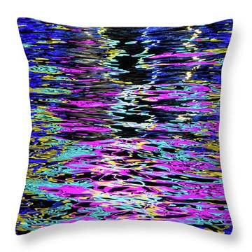 Throw Pillow featuring the photograph Colors On Water by Erin Kohlenberg