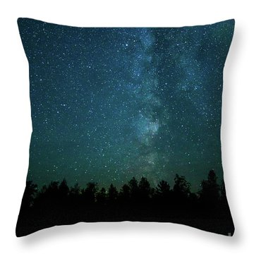 Colors Over The Milky Way Throw Pillow