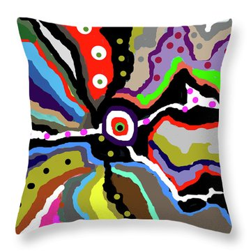 Colors Revised Throw Pillow