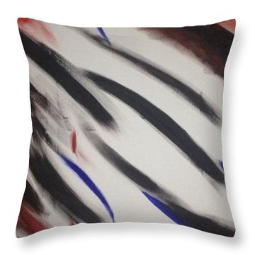 Abstract Colors Throw Pillow by Sheila Mcdonald