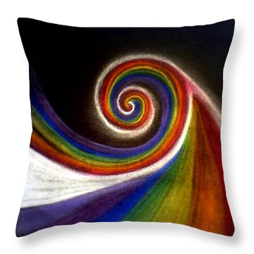 Colorswirl Of Creation Throw Pillow