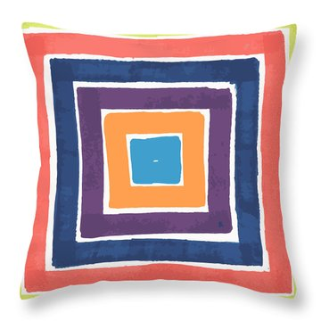 Colory Tile Throw Pillow