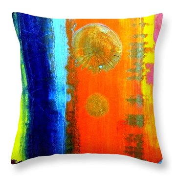 Throw Pillow featuring the painting Colorz 1 by Piety Dsilva