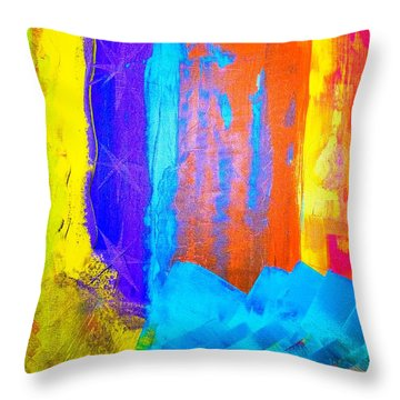 Throw Pillow featuring the painting Colorz by Piety Dsilva