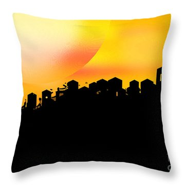 Colossal Ending Throw Pillow by Shelley Jones