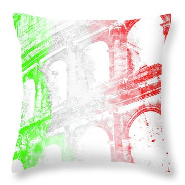 Colosseum - Digital Painting Throw Pillow by Andrea Mazzocchetti