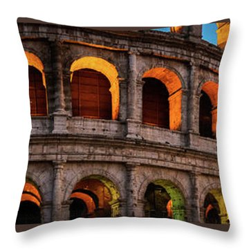 Colosseum In Rome, Italy Throw Pillow