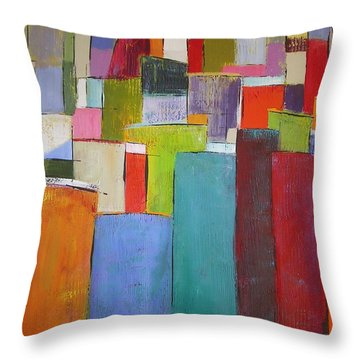 Throw Pillow featuring the painting Colour Block7 by Chris Hobel