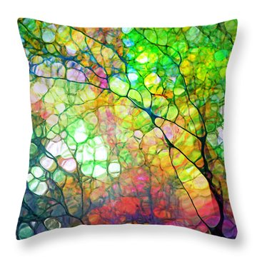 Colour Combustion Throw Pillow