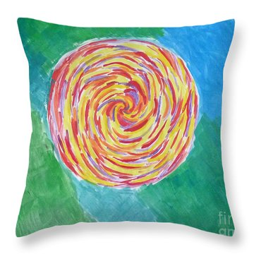 Colour Me Spiral Throw Pillow