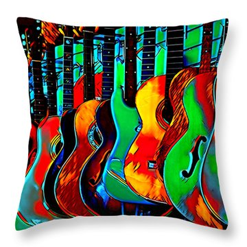 Throw Pillow featuring the digital art Colour Of Music by Pennie McCracken