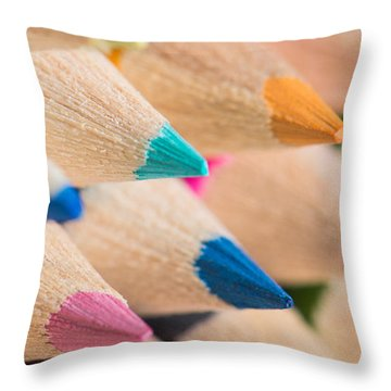 Colour Pencils 3 Throw Pillow