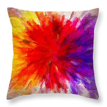 Colour To Lift Your Soul Throw Pillow