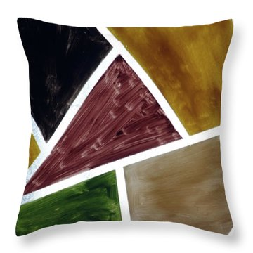Coloured Glass Throw Pillow