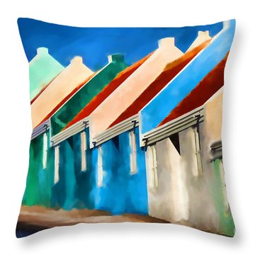 Throw Pillow featuring the photograph Coloured by Jim  Hatch