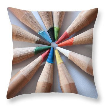 Coloured Pencils 2 Throw Pillow