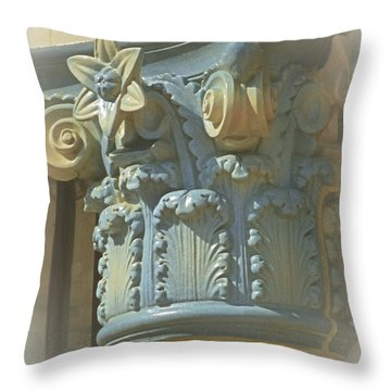 Throw Pillow featuring the photograph Coloured With Sand And Sky by Connie Handscomb