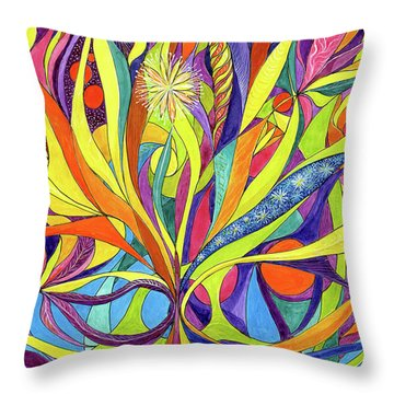 Colourful 2009 Throw Pillow by Charles Cater