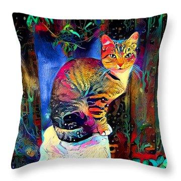 Colourful Calico Throw Pillow