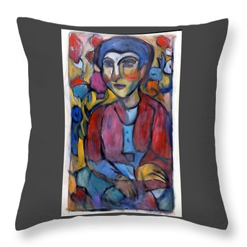 Colourful Contemple Throw Pillow
