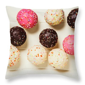 Colourful Cupcakes Throw Pillow