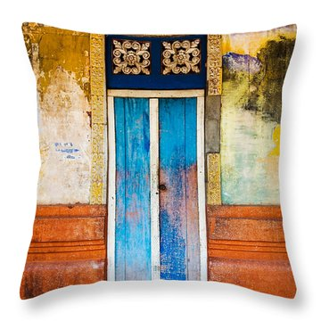 Colourful Door Throw Pillow