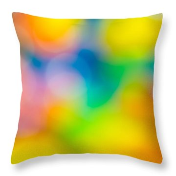 Throw Pillow featuring the photograph Colourful Dreams by Keith Hawley