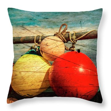 Colourful Fenders In A Distressed State. Throw Pillow by Paul Cullen
