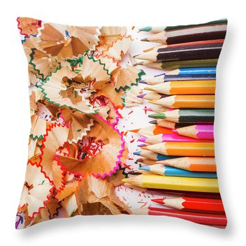 Colourful Leftovers Throw Pillow
