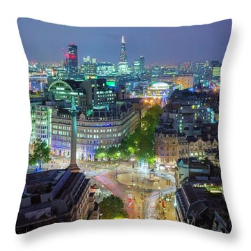 Colourful London Throw Pillow