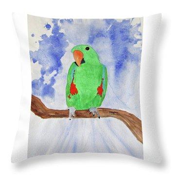 Female Parrot Throw Pillow