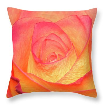 Colourful Rosie Throw Pillow by Roy McPeak
