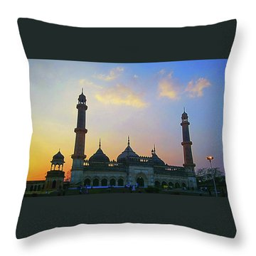Colourful Sunset At Monument Throw Pillow