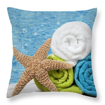 Colourful Towels Throw Pillow