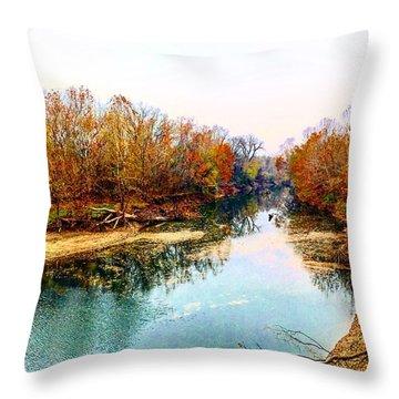 Colours Along Mill Creek Throw Pillow