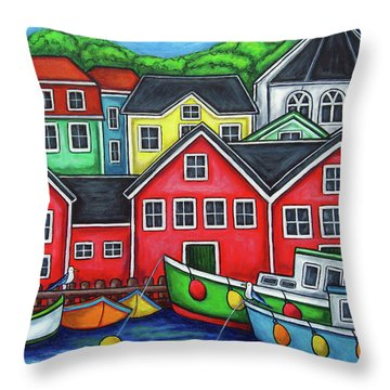 Colours Of Lunenburg Throw Pillow