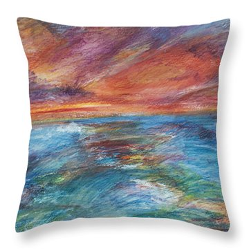 Colours Of The Sea 8 Throw Pillow