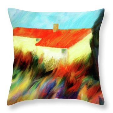 Throw Pillow featuring the painting Colours Of The Wind by Valerie Anne Kelly