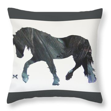 Throw Pillow featuring the painting Colton by Candace Shrope