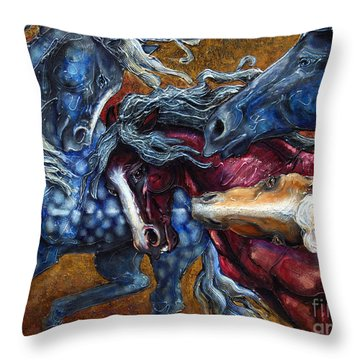 Colts Revolving Together Throw Pillow