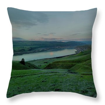 Throw Pillow featuring the photograph Columbia Gorge In Early Spring by Jeff Swan