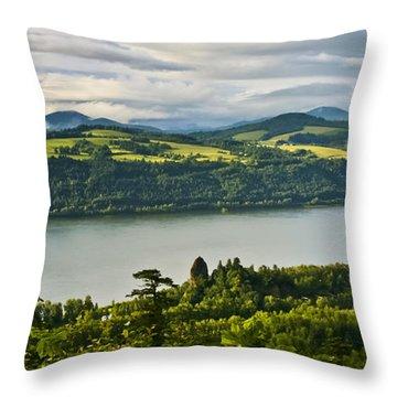 Columbia Gorge Scenic Area Throw Pillow